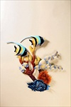 Metal Art Wall Hanging - Angel Fish - #33449 